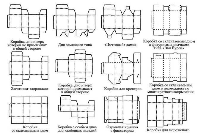 схемы из картона